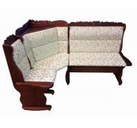 Угловой диван Себастьян Шале с резьбой (1100 мм) левый