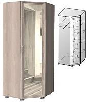 Шкаф угловой с зеркалом ГРОС Латте, Ла-7 (ЛДСП)