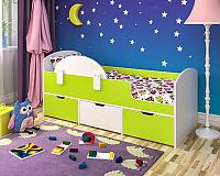 Кровать-чердак Малыш Мини с бортиком