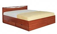 Кровать Боровичи Мелисса (160) с одной спинкой и ящиками