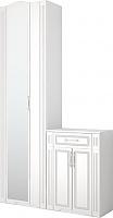 Шкаф для платья (с зеркалом) с тумбой Ижмебель Виктория, арт. 28