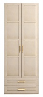 Шкаф Ижмебель Скандинавия Люкс 2х дверный для одежды с ящиком, мод.1