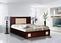 Кровать Альянс XXI век Лион 1 (кожа) с ящиками