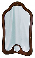 Зеркало навесное Мебелик Джульетта средне-коричневый