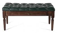 Банкетка Мебелик Оливия эко-кожа зеленый/темно-коричневый