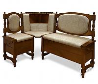 Угловой диван Шале Картрайд с углубленным ящиком левый (белый, слоновая кость)