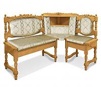Угловой диван Шале Картрайд с резьбой правый (белый, слоновая кость)