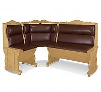 Угловой диван Шале Себастьян с баром (1100 мм) левый (белый, слоновая кость)