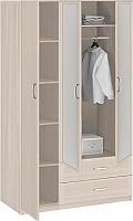 Шкаф 3-х дверный с ящиками с зеркалами Боровичи Лотос АРТ-8.031Z