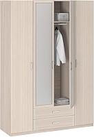 Шкаф 4-х дверный с зеркалом Боровичи Лотос АРТ-8.04