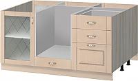 Остров кухонный Боровичи Трапеза массив люкс с духовым шкафом