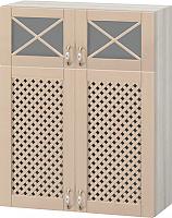 Шкаф-витрина Боровичи Трапеза массив люкс МВ-77В с решеткой