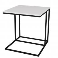 Стол придиванный Мебелик Эгрет белый/чёрный