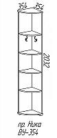 Вешалка-пенал угловая Эра Ника (ВУ354)