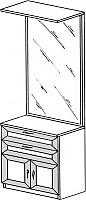 Тумба с зеркалом ГРОС серии Алена ПМ 12 (рамка)