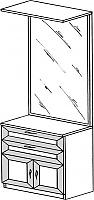 Тумба с зеркалом ГРОС серии Алена ПМ 13 (рамка)