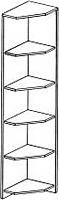 Полки угловые ГРОС серии Алена ПМ 17 (рамка)