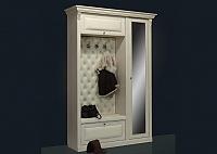 Прихожая Благо Б 5.1 (дверь справа с зеркалом) карамель