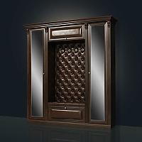 Прихожая Благо Б 5.1-2 (с двумя зеркальными дверьми) орех