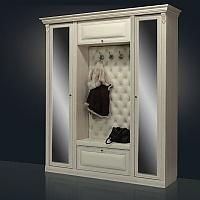 Прихожая Благо Б 5.1-2 (с двумя зеркальными дверьми) карамель