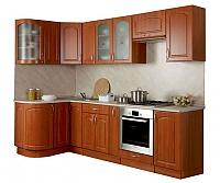 Кухонный гарнитур Трапеза 1230х2100 с гнутыми фасадами  (высота шкафов 700 мм)