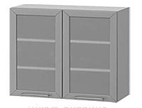 Шкаф со стеклом АРТ: В-35В