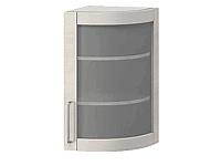 Шкаф торцевой со стеклом правый АРТ: В-44В п