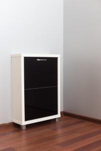 Шкаф обувной Люкс черное стекло 2с
