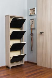 Шкаф обувной Люкс черное стекло 4с