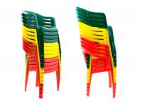 Набор пластиковой мебели Стандарт Пластик Стол круглый, д. 900 мм + Кресло №5 Комфорт-1(540x535x780мм), 2 шт.