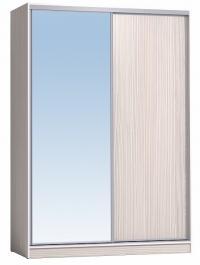 Шкаф-купе Глазов 1600 Домашний зеркало/лдсп + шлегель, Бодега Светлый