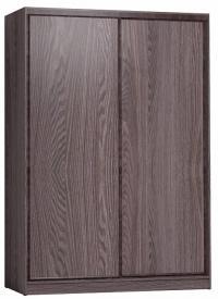 Шкаф-купе Глазов 1600 Домашний лдсп/лдсп + шлегель, Ясень Анкор темный