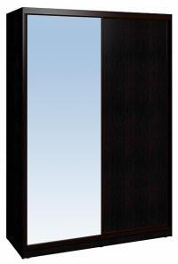 Шкаф-купе Глазов 1600 Домашний зеркало/лдсп + шлегель, Венге