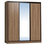 Шкаф-купе Глазов 2000 Домашний зеркало/лдсп + шлегель, Дуб табачный Craft