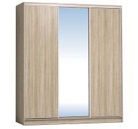 Шкаф-купе Глазов 2000 Домашний зеркало/лдсп + шлегель, Дуб сонома