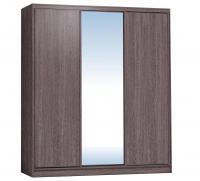Шкаф-купе Глазов 2000 Домашний зеркало/лдсп + шлегель, Ясень Анкор темный