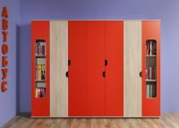 Шкаф для книг Глазов Автобус 7 (красный)