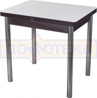 Стол кухонный Домотека Чинзано М-2 ВН ст-БЛ 02 венге, стекло белое