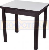 Стол кухонный Домотека Чинзано М-2 ВН ст-БЛ 04 венге, стекло белое