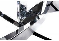 Стол стеклянный Woodville Komo 110 Chrome