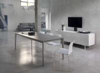 Стол М-City DOTO (20.09) M306/ M306 белый/ С150 TOP+EXT белое гл. стекло