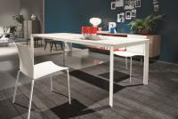 Стол М-City DUBLINO (20.17) M306/ M306 бел./С180S VELVET, + L079 white wood ext