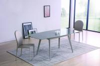 Стол М-City ELIOT 120 Frosted Grey1 glass+Grey1