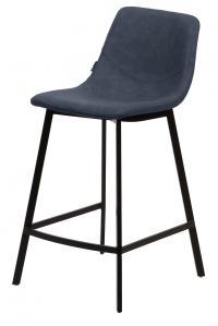 Барный стул HAMILTON RU-03 PU синяя сталь М-City