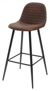 Барный стул LION BAR PK-03 коричневый, ткань микрофибра М-City