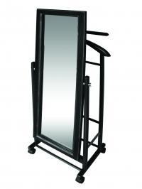 Вешалка костюмная Мебелик В 24Н с зеркалом на колесах