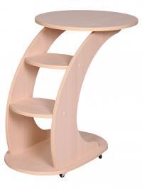 Подкатной столик Стелс молочный дуб