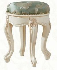 Банкетка круглая МИК Милано MK-1861-IV Слоновая кость