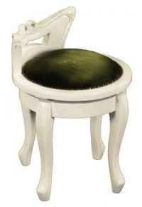 Пуф вращающийся МИК Мебель ST-12 MK-2461-IV Слоновая кость/Зеленый
