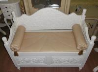 Скамья с ящиком и подушками МИК Мебель PSB 02 MK-2487-IV Слоновая кость